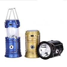 Premsons 6 LED Solar Power Camping Lantern Rechargeable Hiking Flashlight