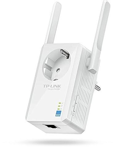 TP-Link TL-WA860RE WLAN Repeater(300 Mbit/s, 1 Port, integrierter Steckdose, 2