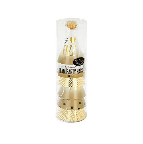 erati; Mini-Partyhüte für Silvester, Hochzeiten und Partys, Bunt (6 pro Pack) (Silvester-party Pack)