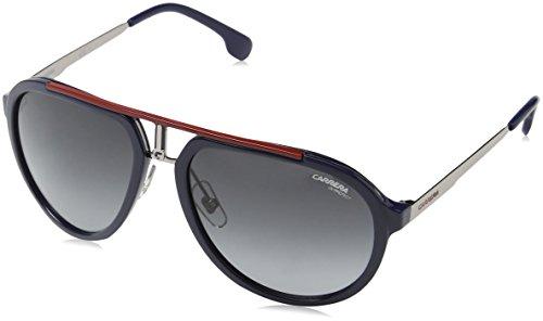 Carrera Unisex-Erwachsene 1003/S 9o Sonnenbrille, Blau (BLUEE RUTHEN/DARK GREY SF), 58