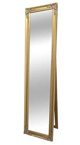 Livitat® Ankleidespiegel Standspiegel Wandspiegel antik barock Gold 160 x 40 cm NO