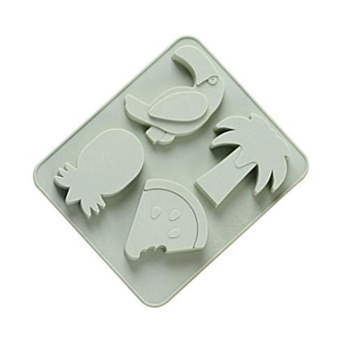 Yujum 4 Slots Fruit Shaped Pudding-Gelee-EIS-Block-Form-Kuchen-Schokoladen-Gebäck-Backen-Form-Behälter