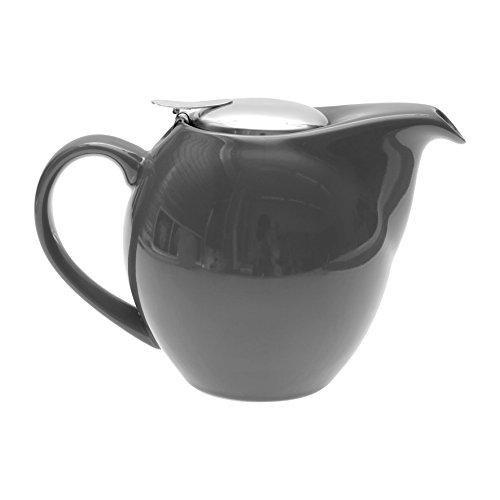 Sema Keramik-Teekanne, kugelförmig, Grau