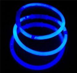 Mondial-Fete - 100 Bracelets Fluo Bleu