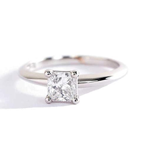 Anillo de compromiso solitario de diamante...