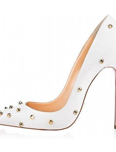 WSS 2016 Chaussures Femme-Mariage / Bureau & Travail / Habillé / Décontracté / Soirée & Evénement-Bleu / Blanc / Bordeaux / Amande-Talon Aiguille- white-us7.5 / eu38 / uk5.5 / cn38