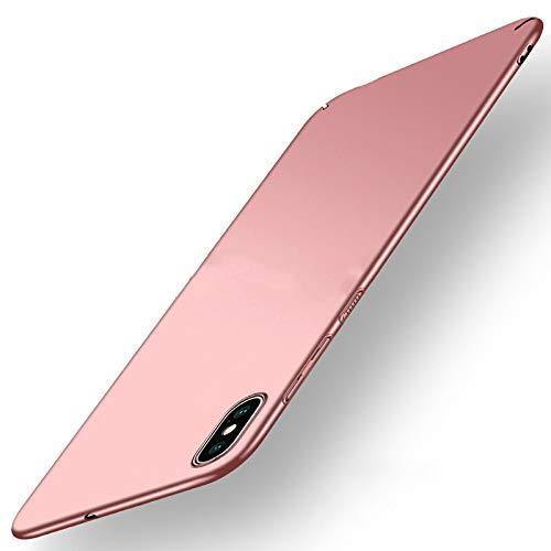NAVT Xiaomi Mi 8 Pro Funda,Ultrafino Estructura Completamente rodeada la Estructura de Superficie Mate Durable PC Protector teléfono Funda para Xiaomi Mi 8 Pro Smartphone (Oro Rosa)