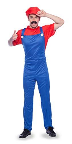 Drachen Märchen Kostüm (Folat 21966 Super-Klempner Mario Kostüm L-XL, rot,)