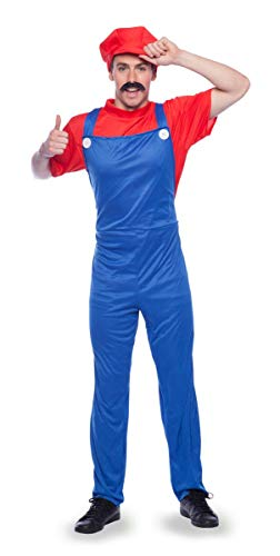 empner Mario Kostüm Erwachsene-L, rot, M-L ()