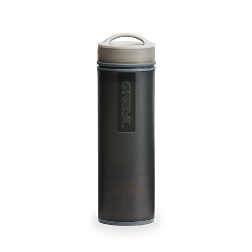 Grayl - botella de purificador de agua Ultralight + filtro negro - 16 oz.