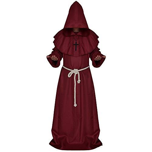 CAGYMJ Cosplay Halloween Herrenbekleidung,Festival Dunkler Erwachsener Mehrfache Farben Teufel Umhang Kleidung,Ostern Kleidung Performances Kostümparty,Rot,XL (Rote Teufel Kostüm Männlich)