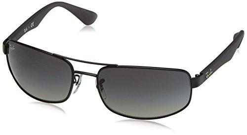Ray Ban Unisex Sonnenbrille ORB3445 Gr. X-Large (Herstellergröße: 64), Mehrfarbig (Gestell: Gunmetal/Bordeaux, Gläser: Polarized Braun Klassisch 029/57), Mattes Schwarz, 64 mm