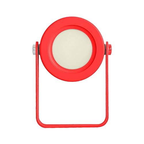 Nachtlichter LED Schreibtischlampe Nachtlicht Laterne USB Licht Folding Teleskop Camping Lampe Tischlampe (14,2 cm * 3,7 cm x 19,4 cm) Night Light lamp (Farbe : Red)