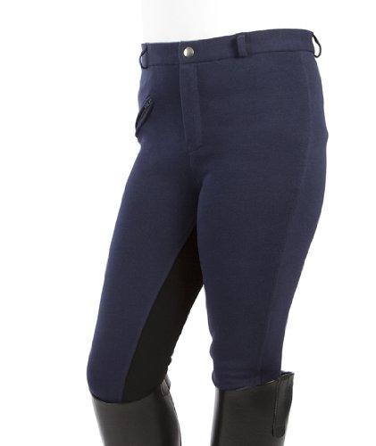PFIFF Kinder Reithose Vollbesatzhose, Blau (blau-schwarz),  164