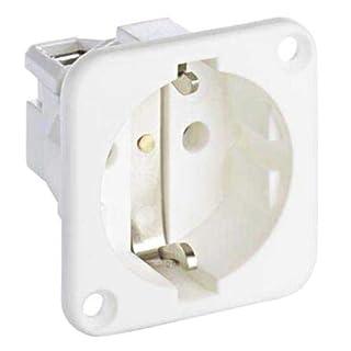 ABL Sursum White 1 Gang Electrical Socket, Type F - German Schuko, 16A