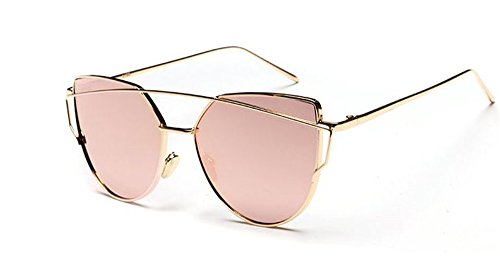 AKABELA Donne Moderni Occhio di gatto UV400 Twin-Beams Metallo Telaio  Polarizzate Occhiali da sole Sunglasses - Occhiali da sole - Panorama Auto