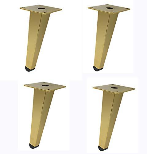 Eisen Sofa Fuß X4 Metall Möbel Fuß Kabinett Fuß Kaffeetisch Fuß TV Kabinett Fuß Hardware Fußstütze Fuß, Titan Gold