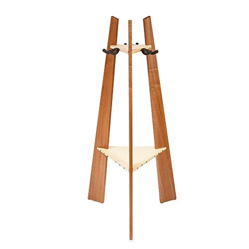 Ruach GR-1 Premium Wooden 3 Way Multi Guitar Stand Display Rack - Mahogany -