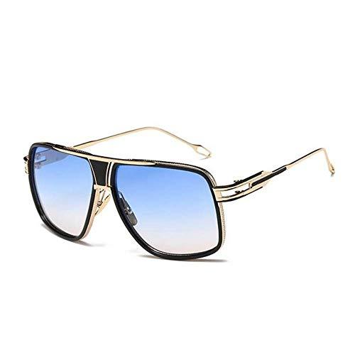 Hjbh123 HJBH Sonnenbrille XHM-51 Fashion Retro Brille Metall polarisiert UV-Schutz Sport Fashion Farbe Sonnenbrille Outdoor Travel Sommer Staub - Hellblau