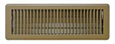 True Aire Floor Register 14 X 4 Powder Coated Brown Finish Heavy Steel Construction by Truaire