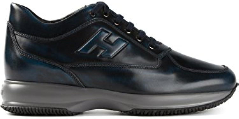 Hogan Herren HXM00N090426MAU407 Blau Leder Sneakers