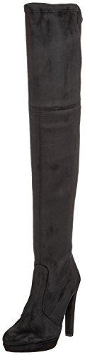 Buffalo London Damen 2863 Micro Strech Stiefel, Schwarz (Black 01), 39 EU
