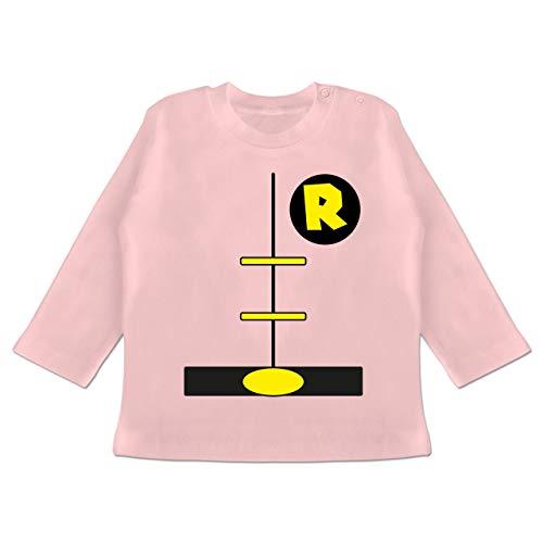 18 Kostüm 12 Superhelden Monat - Karneval und Fasching Baby - Superheld Kostüm Kind - 12-18 Monate - Babyrosa - BZ11 - Baby T-Shirt Langarm