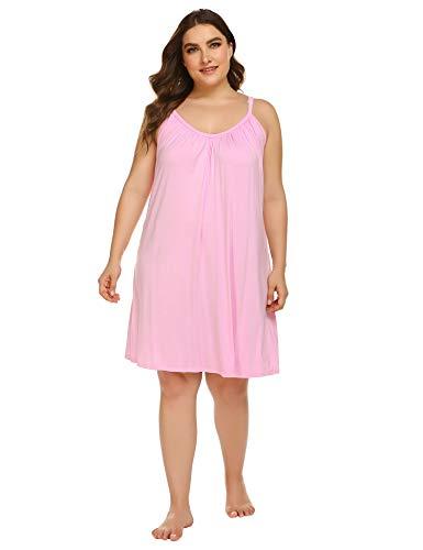 IN'VOLAND Plus Size Nightdress W...