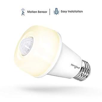 Sengled Smartsense A60 LED Lampe, mit Bewegungsmelder, E27, warmweiß 2700K, Sicherheits-Lampe, ersetzt 60W, 9W, 1 Stück