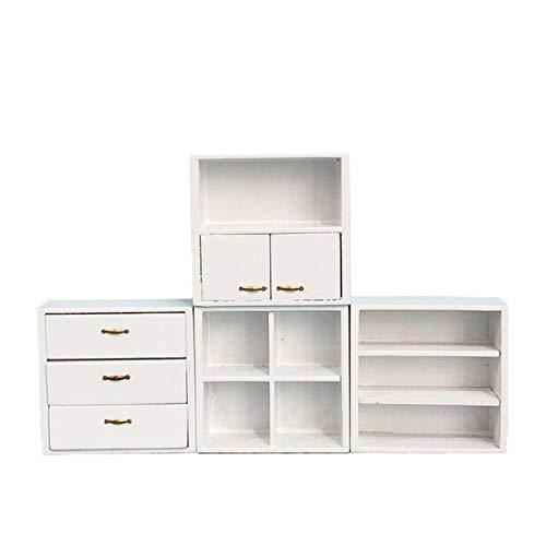 FiedFikt Mini gabinete para el hogar 1:12 casa de muñecas miniatura muebles de escena casa de muñecas...