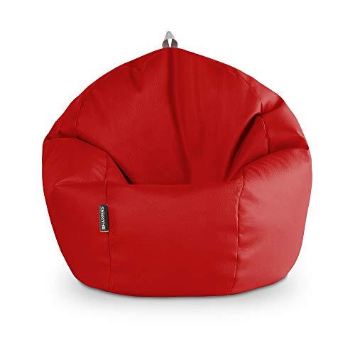 HAPPERS Puff Pelota Polipiel Indoor Rojo