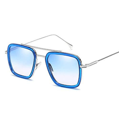 YHEGV Europa und die Vereinigten Staaten Trend Sonnenbrillen Mode Box Sonnenbrillen Retro Männer und Frauen Sonnenbrillen