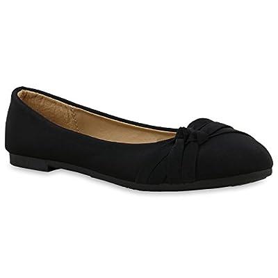 Klassische Damen Ballerinas Lederoptik Flats Trend Schuhe