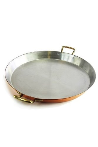 \'CopperGarden®\' Paellapfanne 35cm, Kupferpfanne mit Edelstahl