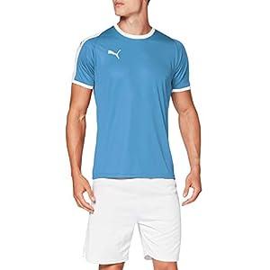 PUMA LIGA Jersey T-Shirt - Silver Lake Blue/White, Medium
