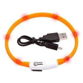 Visio Light - LED Halsband Hundesicherheit Hunde Leuchthalsband Innovation: ohne Batterien -universell kürzbar -Grün