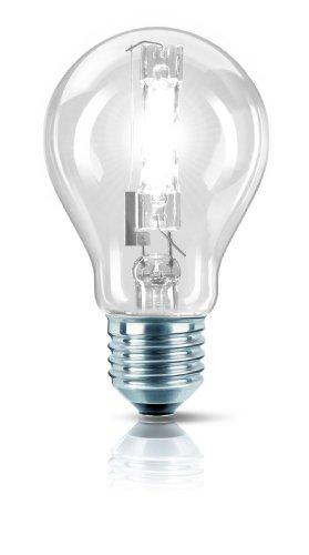 Philips 25255225 Ampoule halogène EcoClassic 30 haute brillance, forme lampe à incandescence, E27 A60 140 W (Transparent)
