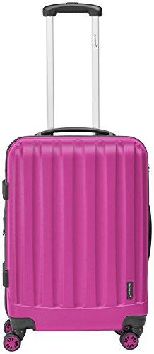 Packenger Velvet Koffer, Trolley, Hartschale  L in Magenta.   50x34x23cm