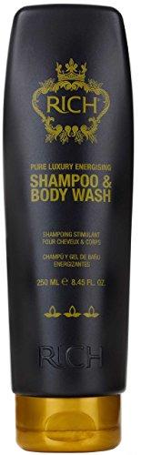 RICH Energising Shampoo & Body Wash mit Arganöl, Rizinusöl und Pfefferminzöl für männer