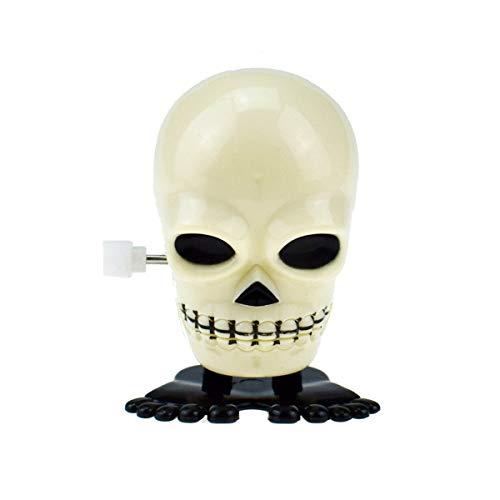 Amosfun Halloween-Spielzeug zum Aufziehen, Totenkopf-Spielzeug, Halloween, Party-Requisiten, Schwarz + Weiß, 6 Stück (Halloween Weiß Für Und Schwarz Wobei)