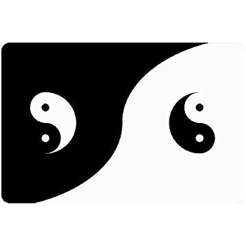 Antiscivolo rettangolare, con simboli Yin Yang, per