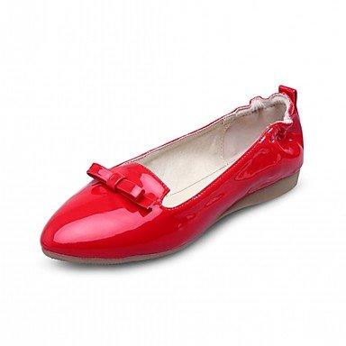 Wuyulunbi@ Scarpe Donna Primavera Autunno Comfort Novità luce Appartamenti suole piatte rotonde Bowknot di punta per abbigliamento casual Rosso Bianco Nero Noi6.5-7 / EU37 / UK4,5-5 / CN37