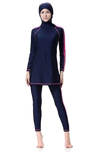 af7fb037f5 WOWDECOR Modesto Bañador islámico Musulmanes Bañadores para Mujer Chica  Full Cover Burkini Bañador Beachwear, Azul