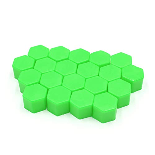 Sourcing map 20Pcs Tapa Cubre 19mm Silicona Verde