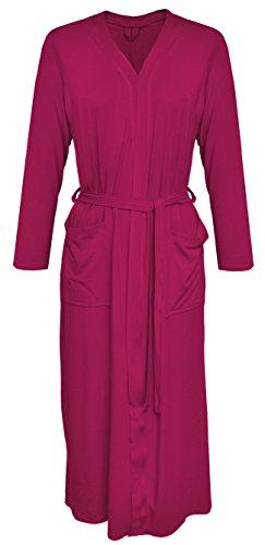 DKaren-Nachtwäsche Damen Morgenmantel aus Viskose VIKI (XS - 2XL) (2XL, Pink)