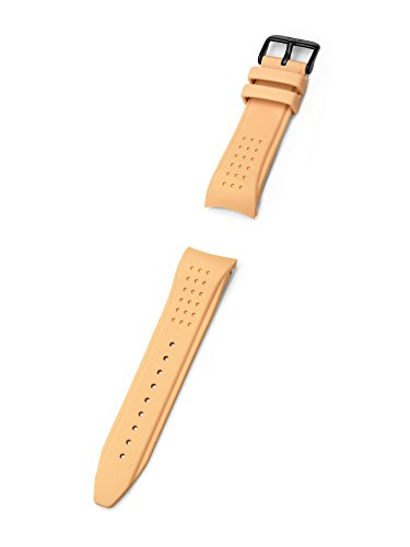 KHS | Silikonband Striker MKII 24mm Tan | Ersatzarmband | KHS.EBSTST.24, Uhrenarmband
