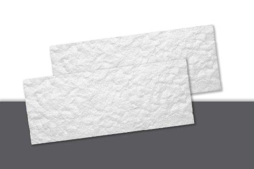 Decosa Creativstein Rosso (Bruchstein-Optik), weiss 20 x 50 cm (= 0,5 qm)