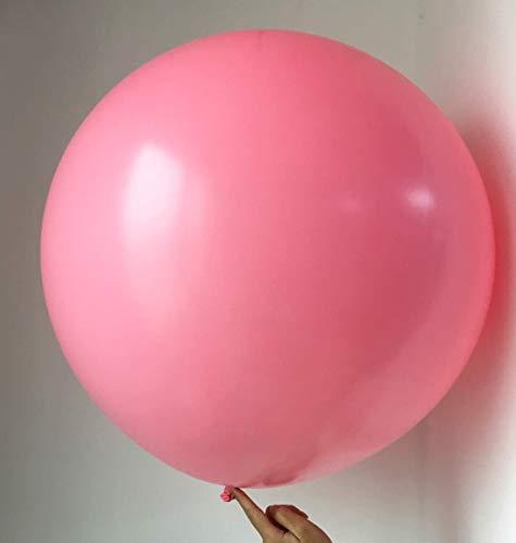 5 große Ballons - 36 Zoll Runde Ballons - extra große und dicke Ballons wiederverwendbare riesige Latexballons für Hochzeit / Geburtstagsfeier Baby Shower Dekorationen Weihnachtsschmuck (hellrosa)