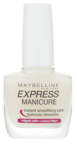 Maybelline New York Make-Up Nailpolish Express Manicure Nagellack Rillenfüller / Base Coat Nagellack für glatte Nägel, 1 x 10 ml Test