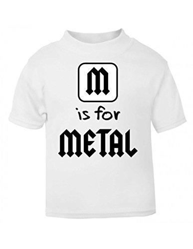 M è alternativa per metallo, motivo: Alfabeto in metallo a